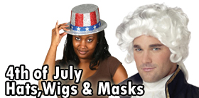 4Th Of July Hats, Wigs and Masks