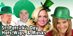 St. Patrick's Day Hats, Wigs and Masks