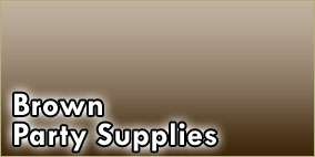 Brown Party Supplies